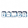 3D Gamer Ghost Logo White T-Shirt